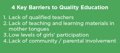 4 Key Barriers to Quality Education graph