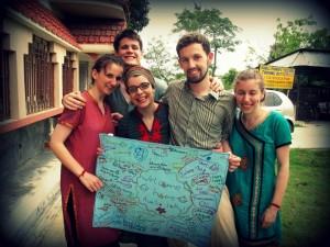 Cathy with Sundarbans Team