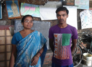 Partha with his teacher