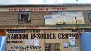 Kangemi Resource Centre, in the bustling Nairobi slum