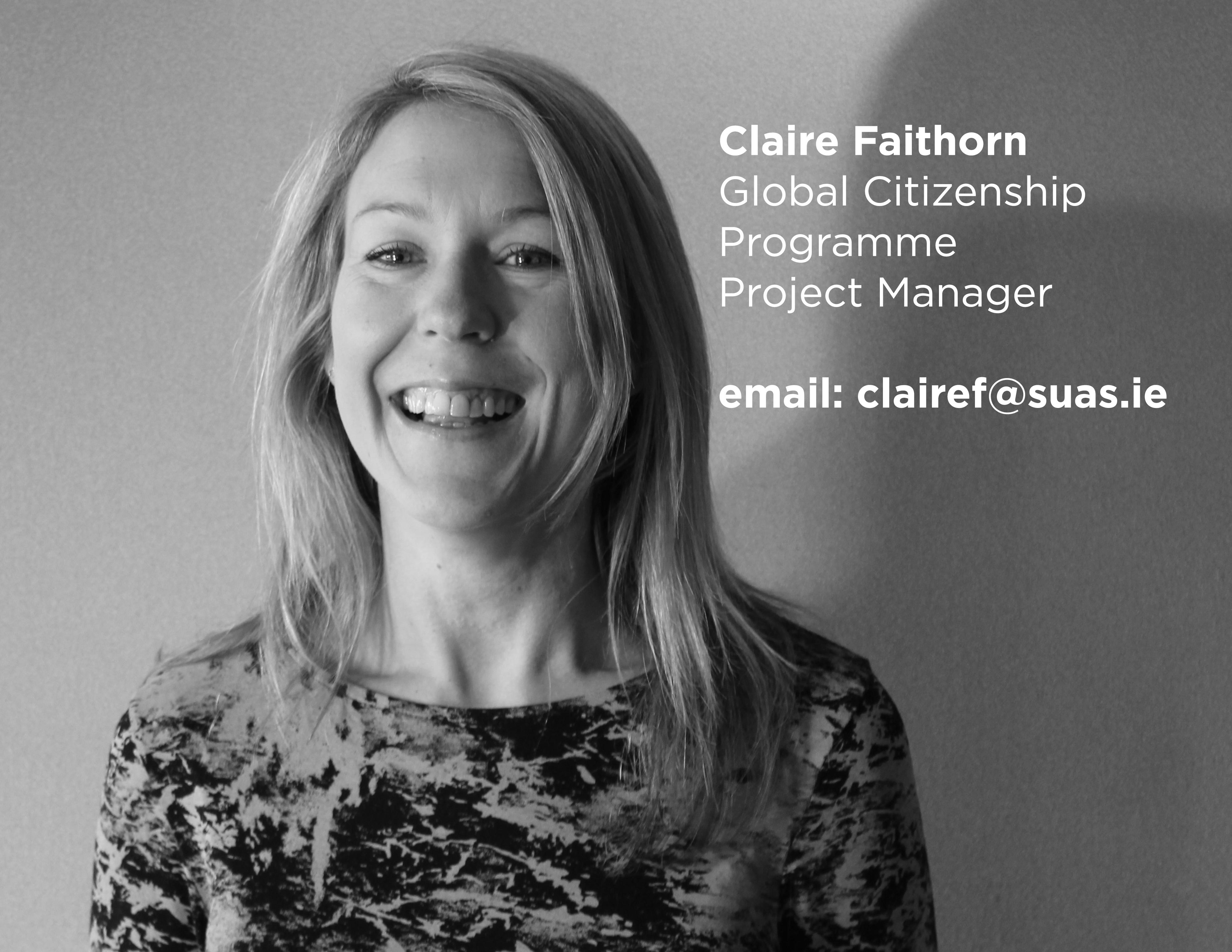 Claire Faithorn, Suas Educational Development, Global Citizenship Programme Project Manager