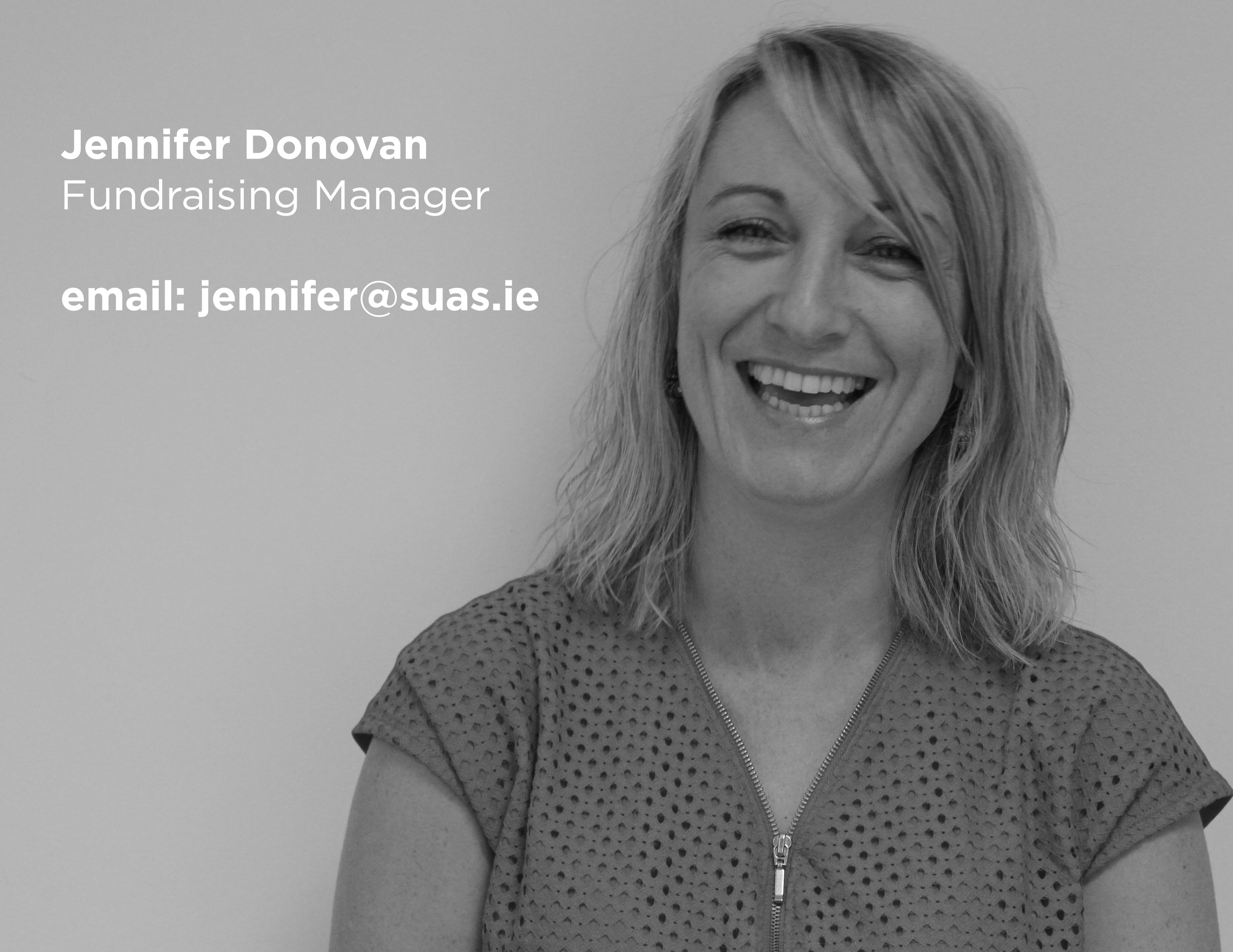 Jennifer Donovan, Suas Educational Development, Fundraising Manager