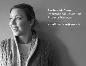 Saoirse McCann, International Education Manager, Suas Educational Development