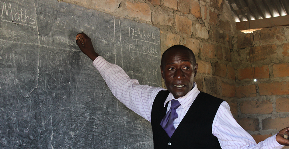 Principle Gershom from a bush school in Kangombe Zambia